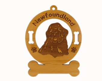 3596 New Foundland Dog Personalized Ornament