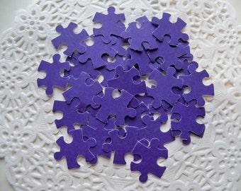 PURPLE AUTISM/Puzzle Pieces SCRAPBOOKING Die Cuts