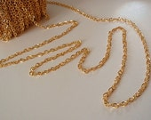 5 Feet Side Twist Chain, Gold Color, Jewelry Making /Finding Supply, Lead Free