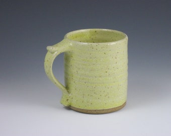 Glossy Pale Yellow Thumbrest Mug