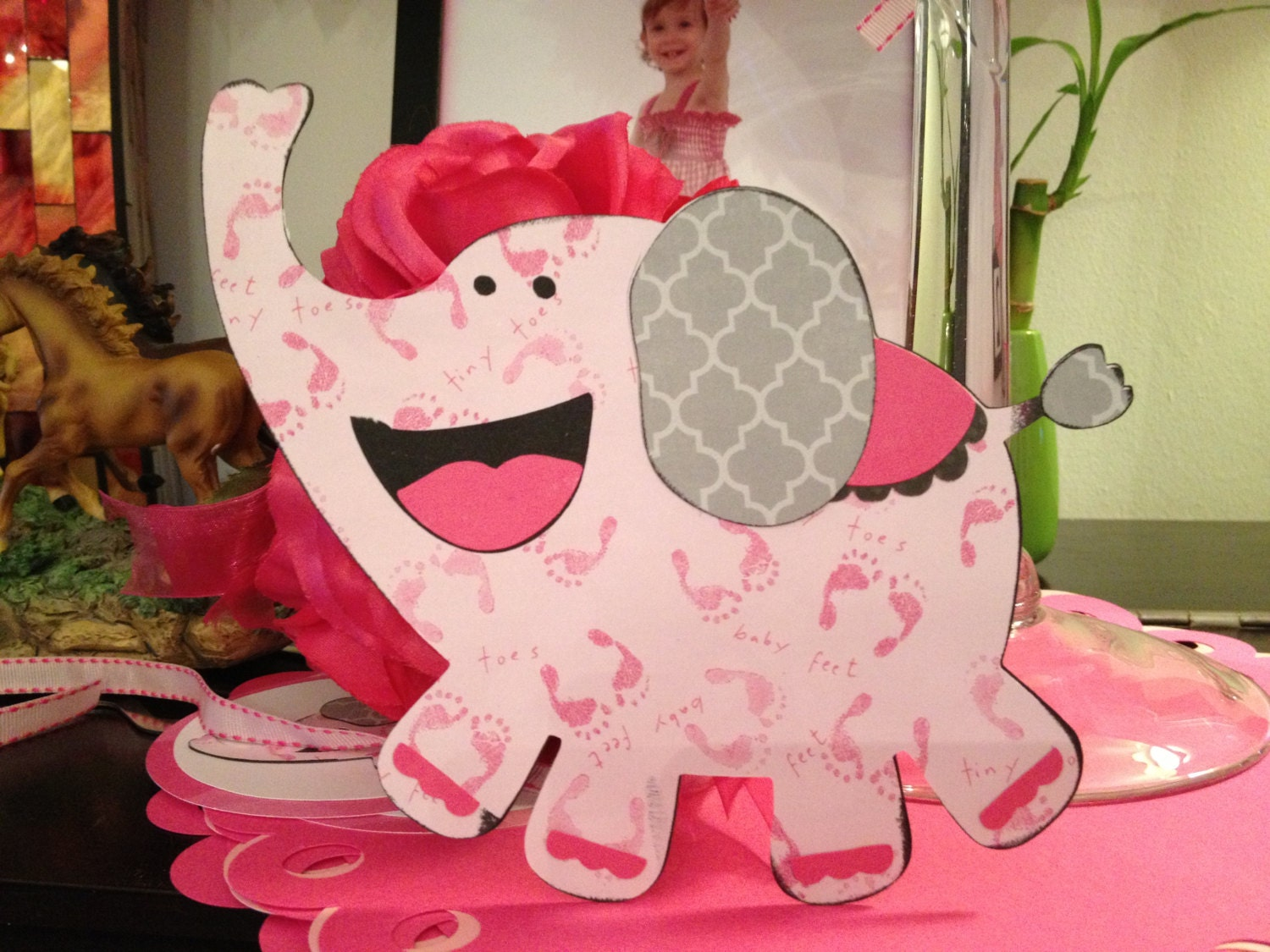 elephant centerpiece for baby shower
