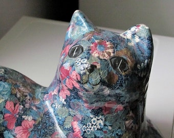 Flower cat handmade sculpture