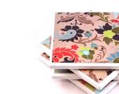 Tile Coaster, Colorful Flowers, Set of 4 Coasters