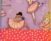 Ballerinas Personalized   Monogrammed Pillowcase Hand made Standard Size SALE
