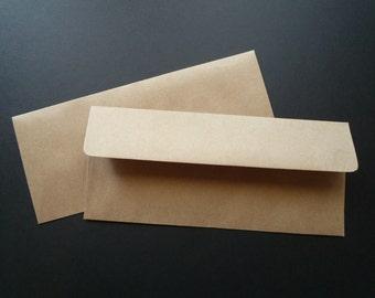 BBE10  25 No.10 Business Size 70 lb.Recycled Brown Bag Envelopes 9 1/2  x 4 1/8 (24.13cm x 10.48cm)