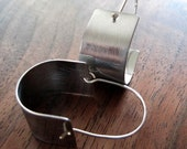 Modern Silver Stirrup Earrings large