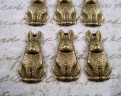 Antique Bronze Bunny Charms(6)-L726