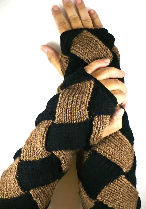 Hobo Gloves Knitting Pattern : Knit Arm Warmers Knit Fingerless Gloves Knit Wrist Warmers