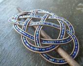 RESERVED LISTING Blue/Purple guitar string barrette
