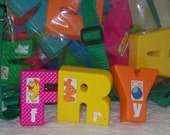 Held for Stephanie  Sesame Street Plastic Letters With Free Shipping