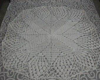 Large crocheted star doily