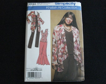 Simplicity 3894 misses' and women's wardrobe pattern