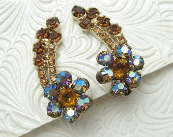 Vintage Juliana Rhinestone Earrings DE E5148