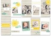4x8 Sunshine Accordion Album for Newborn or Child Photographers - Miller's - 4 PSD Files - Photoshop Templates - AA0002