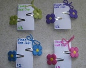 Flower Barrettes PATTERN ONLY