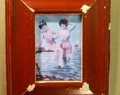 Authentic Wood Picture Frame 5x7 Shabby RED Chic Reclaimed S1208-13