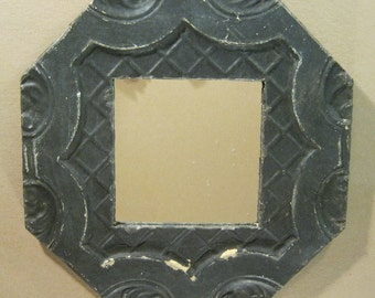TIN Ceiling Tile Octagonal 13x13 Mirror Shabby (Chic) Authentic Recycled S1035-13