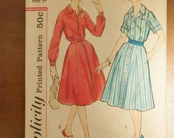 Simplicity 2926 Vintage Pattern - Bust 37 Sz 16 Dress 60s Party Dress