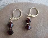 Legacy Birthstone Earrings- Gold and Swarovksi Crystal- Custom