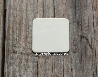 2 Pack of 3/4 inch 20g  Rounded Sterling Silver Squares - Great for creating personalized hand stamped jewelry