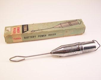 vintage terra battery power mixer  made in japan drinks mixer bar eggs mixer