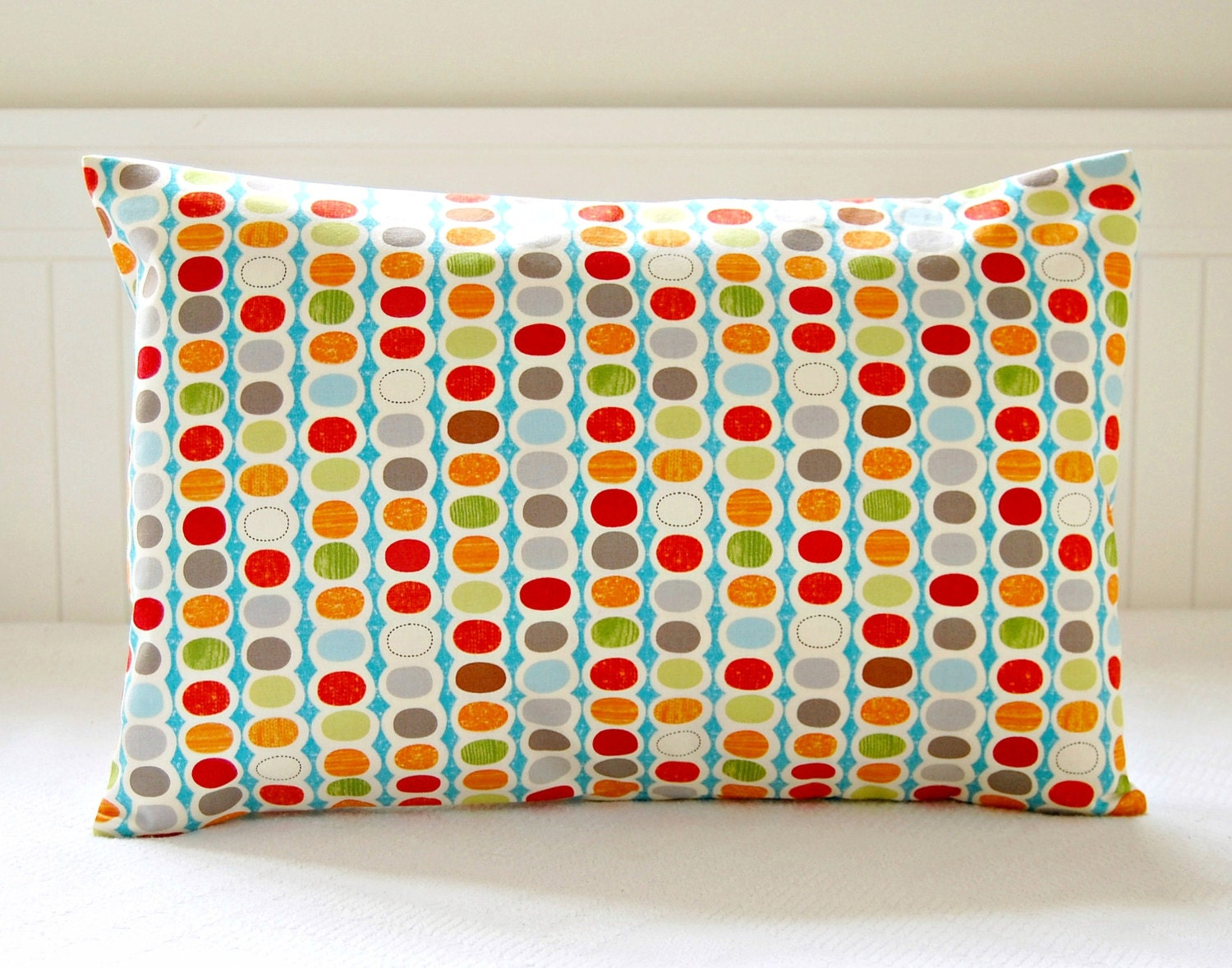 Red Green And Blue Throw Pillows : retro decorative pillow cover red blue green by LittleJoobieBoo