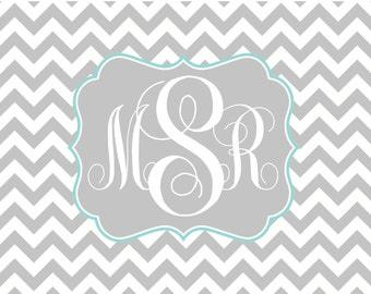 Chevron custom personalized stationery classic  elegant notecards  thanks you notes  shower gift  monogram note cards wedding