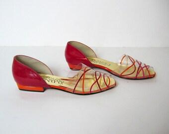 1970s COLORBLOCK sandals, 6 - 7