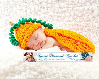 Pumpkin Patch Cuddle Critter Cape Newborn Photography Prop