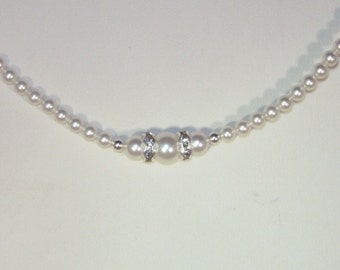 Swarovski Pearl and Crystal Jewelry - Bride, Bridesmaid, Maid of Honor, Flower Girl, Mother of the Bride, Jr Bridesmaid