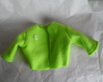 American Girl Lime Green Fleece Jacket Coat fits Gotz Dolls 18 to 20 inch doll Clothes HandMade