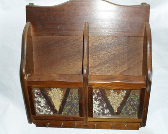 Cabinet mail File Key Rack wood wooden