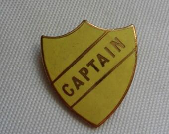Vintage Captain Badge -  Yellow