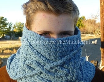 Lochain Cabled Waves Cowl PDF Pattern