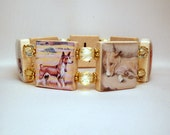 BASENJI BRACELET / SCRABBLE Handmade Jewelry / Dog Lover / Unusual Gifts