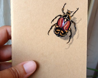Bug Book, Painted Moleskine Pocket Journal