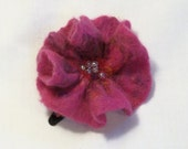 Needle Felted Flower Hair Clip Barrette