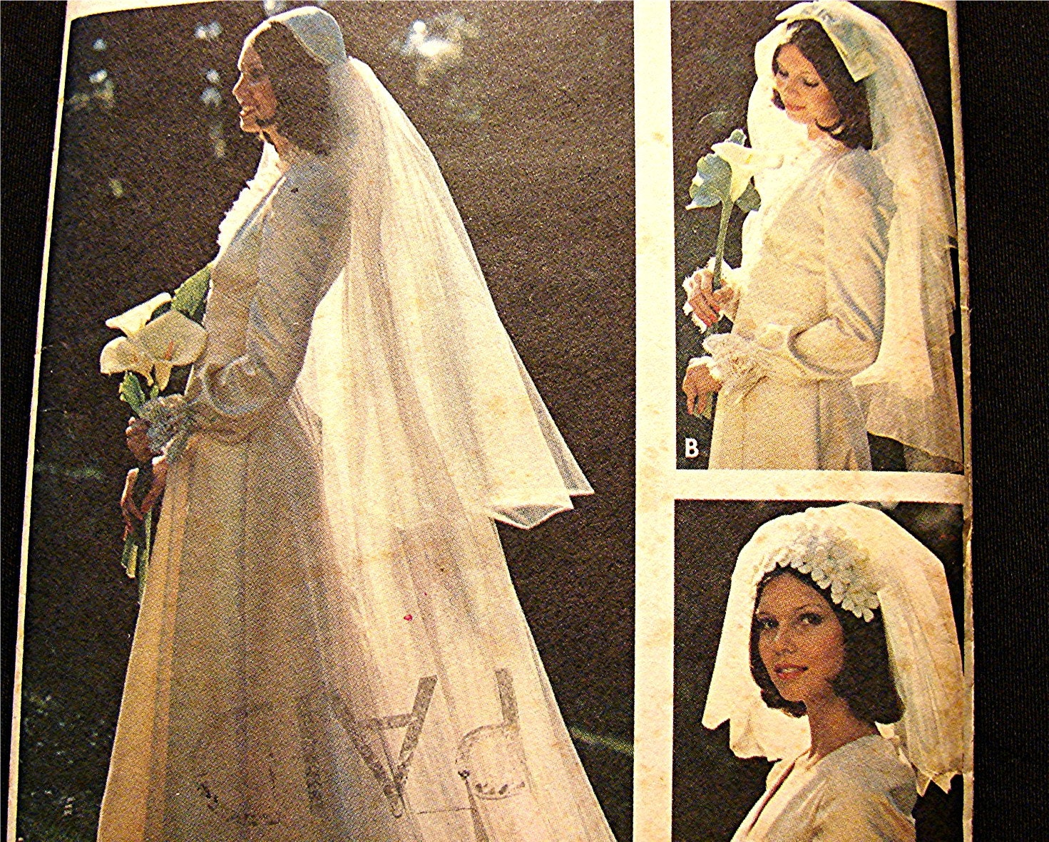 Bridal Headpieces And Veil Wedding Veil Sewing Pattern 1970s