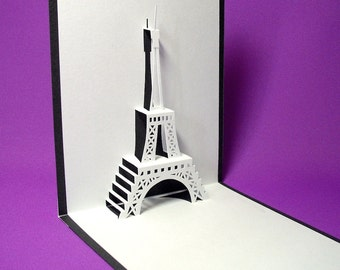 Eiffel Tower 2 in Paris Pop Up Card
