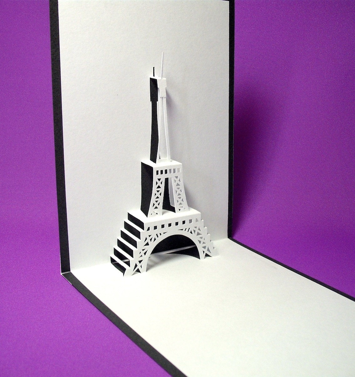 eiffel tower 2 in paris pop up card by galinblack on etsy. Black Bedroom Furniture Sets. Home Design Ideas