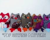 2-in-1 Owl Puppet and Plushie PDF Sewing Pattern