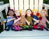 Handmade Cloth Doll, Customizable