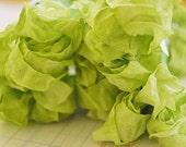 Crinkled Ribbon-Green Tea