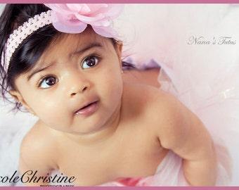 2pc Rose Bud,Tutu Set,1st Tutu,1st photo Shoot,Baby Shower Gift, Size Nb - 6mos