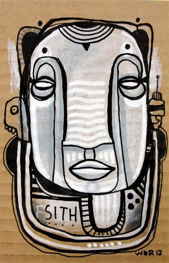 SITH - Original Illustration on Cardboard