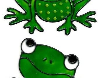 Frogs Window Cling Set