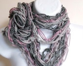 Ombre Pink and Gray Infinity Scarf Women Accessories