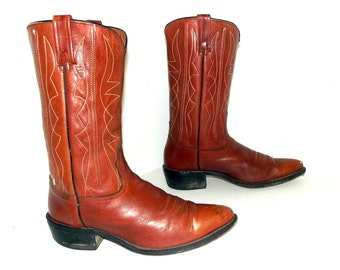 Vintage Acme brown cowboy boots size 10 D or cowgirl size 11.5