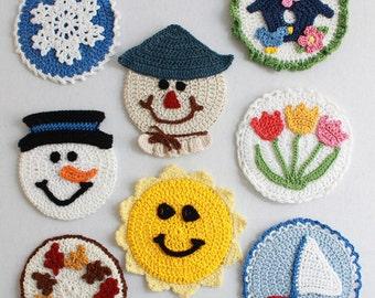 Four Seasons CD Coasters Crochet Pattern PDF