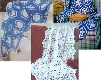 Flurry of Afghans Crochet Pattern PDF